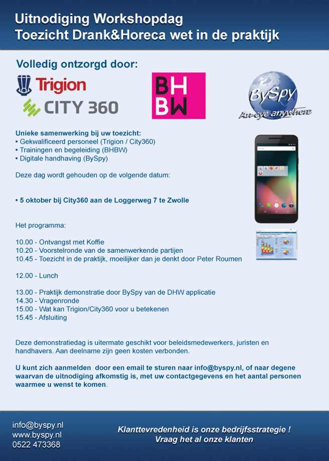 Uitnodiging Workshops